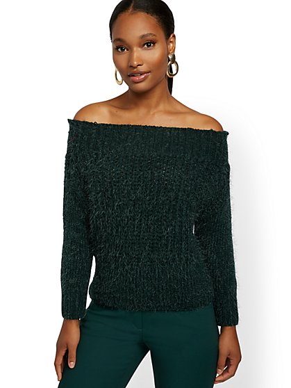 On/Off-The-Shoulder Sweater - 7th Avenue - New York & Company