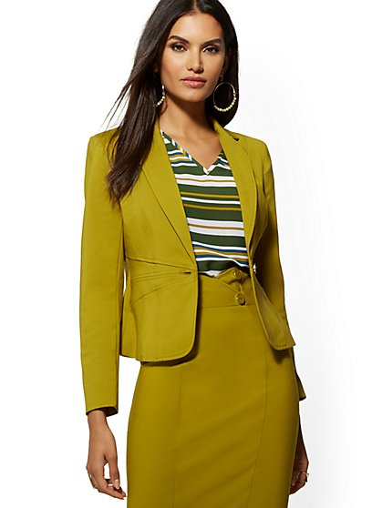 376b261659 One-Button Jacket - All-Season Stretch - 7th Avenue - New York ...