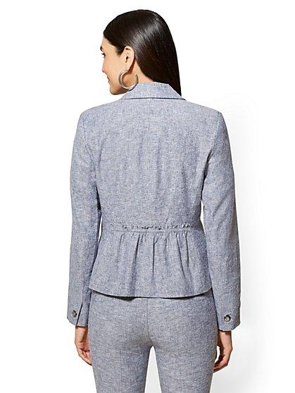 a186ae5a9fac ... One-Button Jacket - City Stretch Linen Flex - 7th Avenue - New York ...