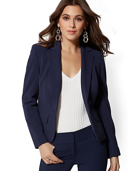 One-Button Jacket - Double Stretch - 7th Avenue - New York & Company
