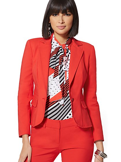 One-Button Jacket - Modern - All-Season Stretch - 7th Avenue - New York & Company
