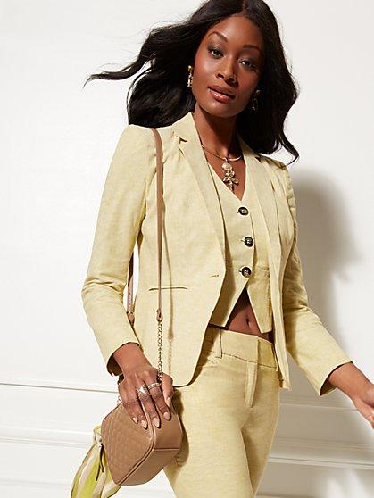 7be8998f1b4 One-Button Jacket - Modern - City Stretch Linen Flex - 7th Avenue - New ...