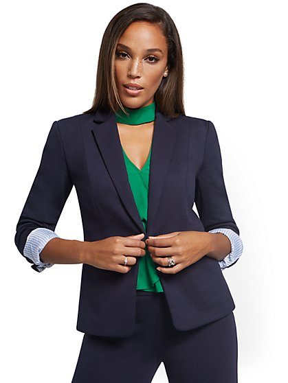 One-Button Jacket - Superflex - New York & Company