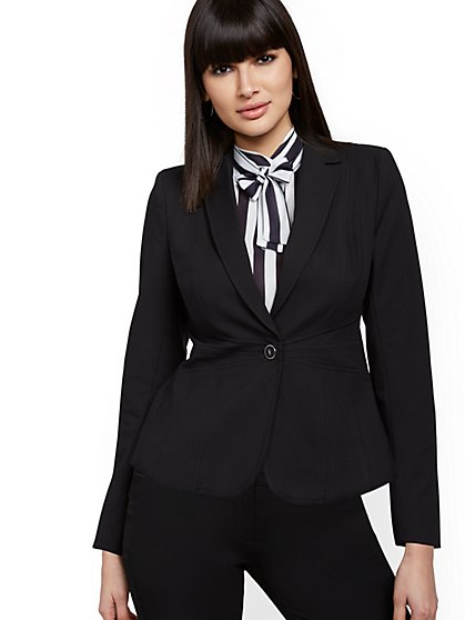 One-Button Waist-Inset Jacket - All-Season Stretch - 7th Avenue - New York & Company