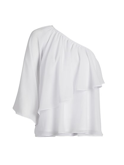 One Shoulder Chiffon Blouse - New York & Company