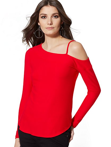 One-Shoulder Top - New York & Company