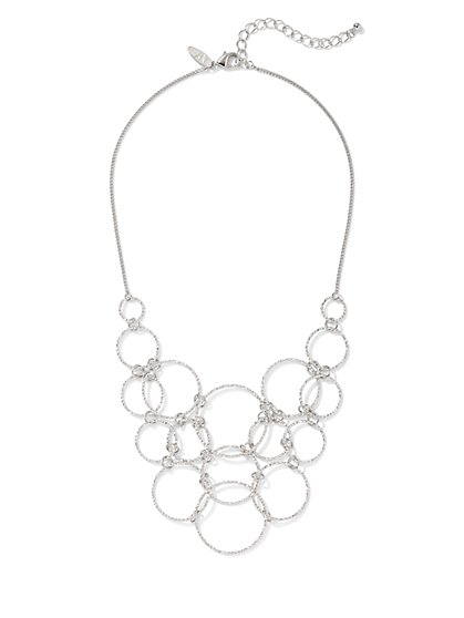 Open-Circle Bib Necklace - New York & Company