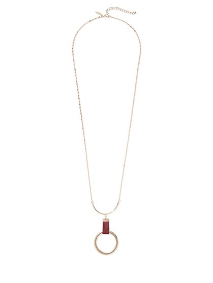 Open-Circle Pendant Necklace - New York & Company