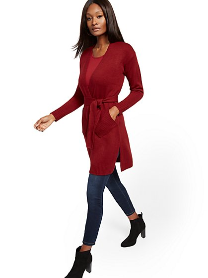 Open-Front Duster Cardigan - New York & Company