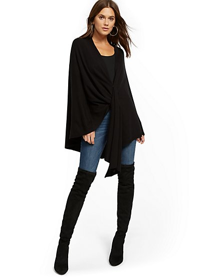 Open-Front Poncho - New York & Company