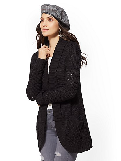 Open-Front Shawl-Collar Cardigan - New York & Company