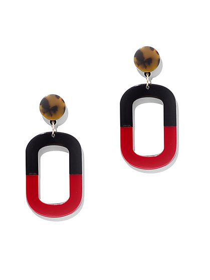 Open-Rectangle Drop Earring - New York & Company