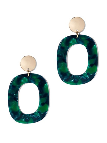 Open Square Drop Earring - New York & Company