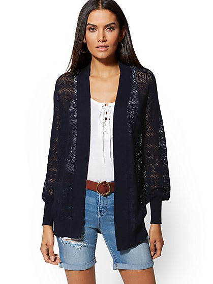71be80ed102 Open-Stitch Cotton   Linen Cardigan - New York   Company ...