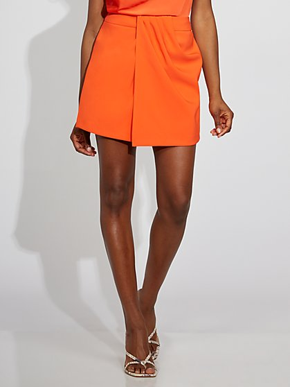 Orange Draped Skort - Gabrielle Union Collection - New York & Company