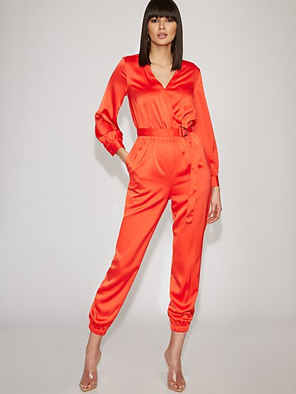 Orange Wrap Jumpsuit - Gabrielle Union Collection - New York & Company