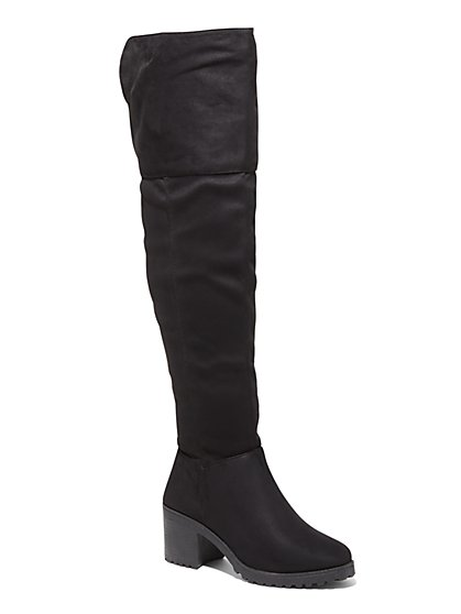 Over-the-Knee Faux Suede Boot - New York & Company