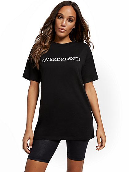 Overdressed Oversized Graphic Tee - New York & Company