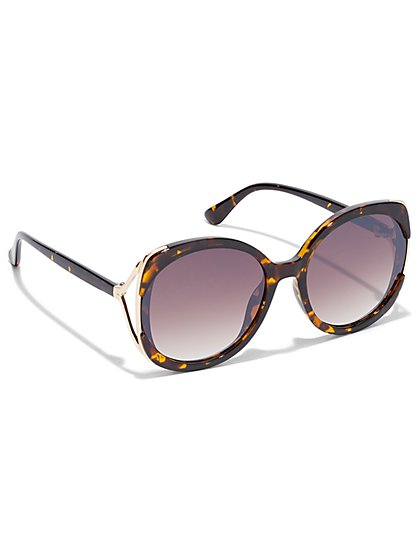 Oversized Round Sunglasses - New York & Company
