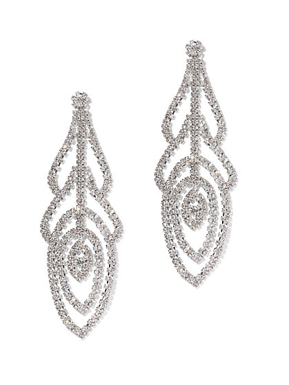 Oversized Sparkling Statement Drop Earring - New York & Company