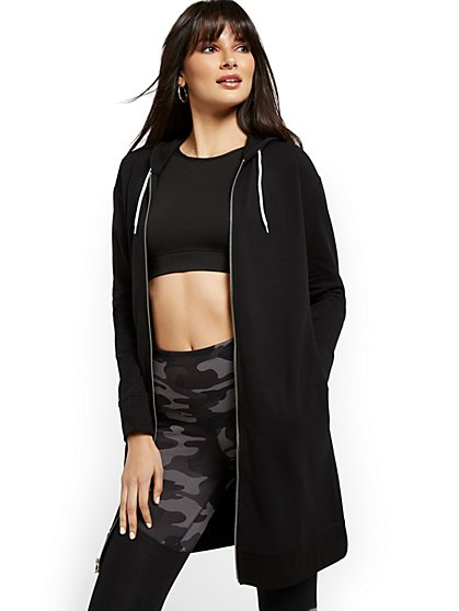 Oversized Zip-Up Hoodie - New York & Company