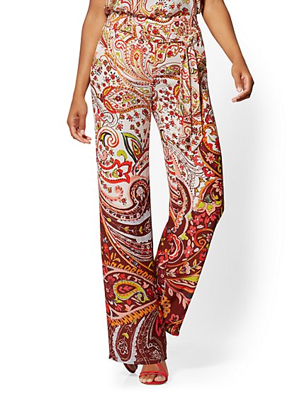 Paisley Palazzo Pant - 7th Avenue - New York & Company