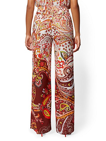 4bd6f4c2fd ... Paisley Palazzo Pant - 7th Avenue - New York & Company