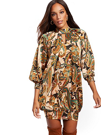 Paisley Tunic Dress - New York & Company