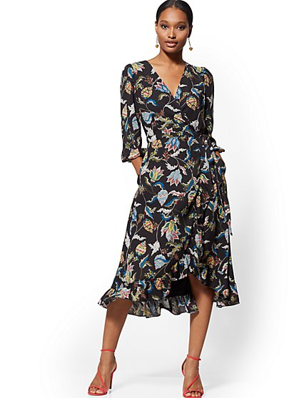 Paisley Wrap Maxi Dress - New York & Company