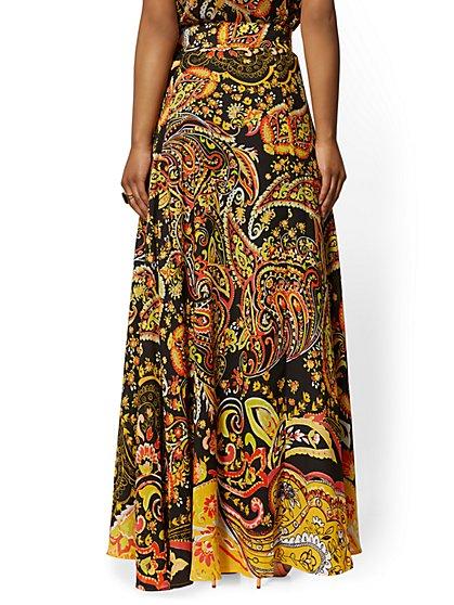 489d7548ad ... Paisley Wrap Maxi Skirt - New York & Company ...