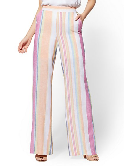 Palazzo Pant - White Stripe - 7th Avenue - New York & Company