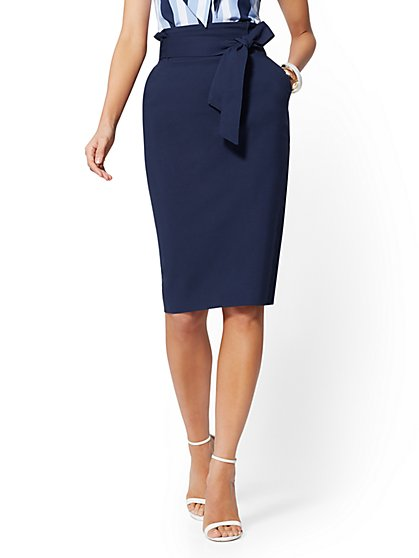 Paperbag-Waist Pencil Skirt - 7th Avenue - New York & Company