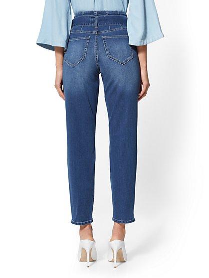 35cdd61e6c3 ... Paperbag-Waist Slim Leg Jeans - Indigo - Soho Jeans - New York   Company