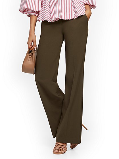 Paperbag-Waist Wide-Leg Pant - 7th Avenue - New York & Company
