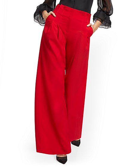 Paperbag-Waist Wide-Leg Pant - New York & Company