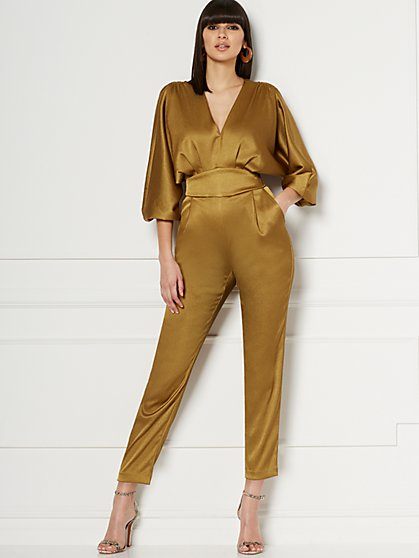 Paris Satin Jumpsuit - Eva Mendes Collection - New York & Company
