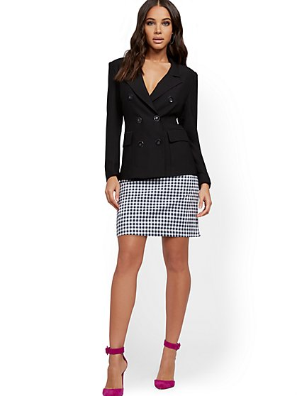 Patch-Pocket Mini Skirt - New York & Company