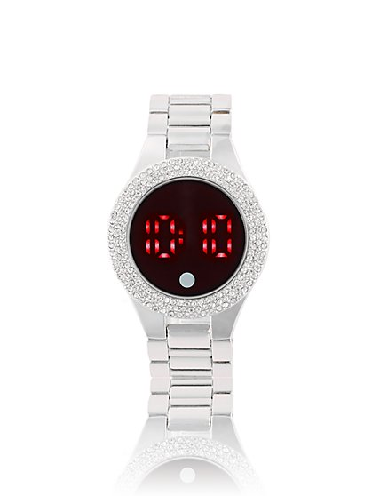 Pave Digital Link Watch - New York & Company