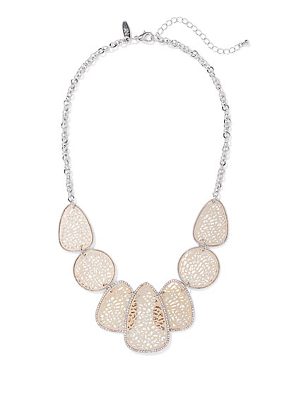 Pave Filigree Statement Necklace - New York & Company