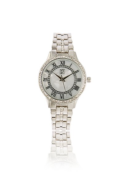 Pave Mother-of-Pearl Watch - New York & Company