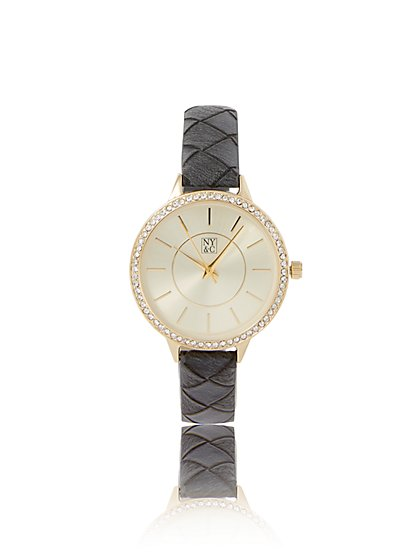 Pave Quilted Band Watch - New York & Company