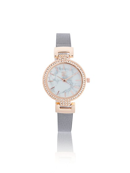 Pave Rose Goldtone Watch New York Company