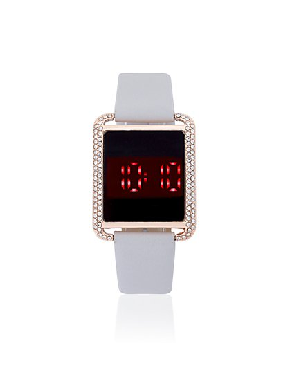 Pave Square Digital Watch - New York & Company