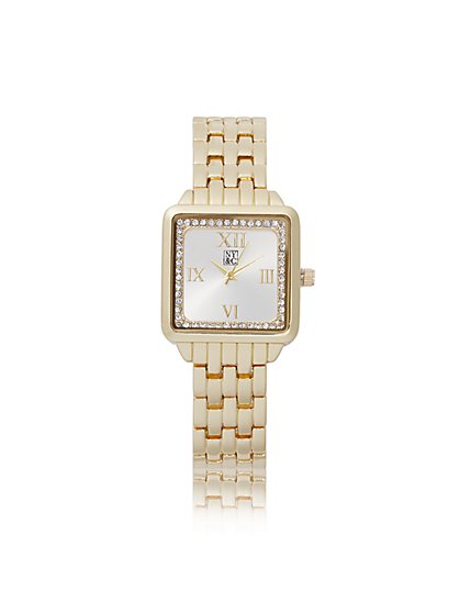 Pave Square Link Watch - New York & Company