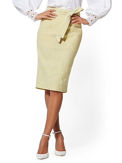 Pencil Skirt - City Stretch Linen Flex - 7th Avenue - New York & Company