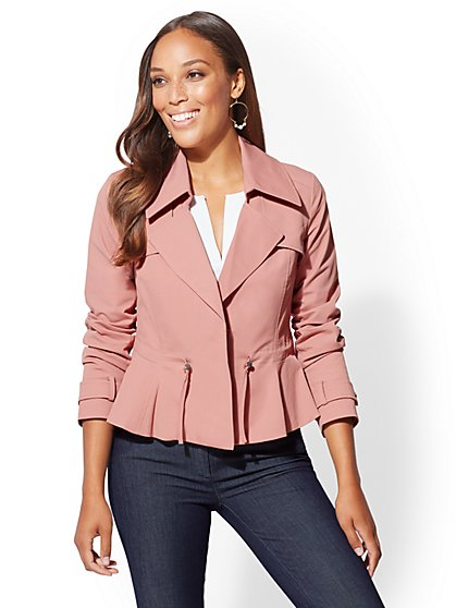 Peplum Drawstring Jacket - New York & Company