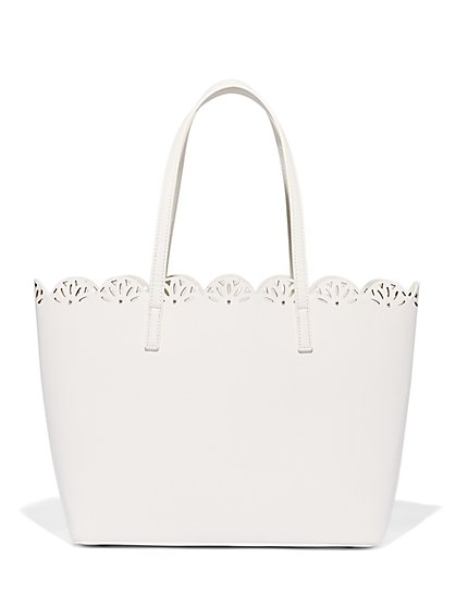 Perforated Tote Bag - New York & Company