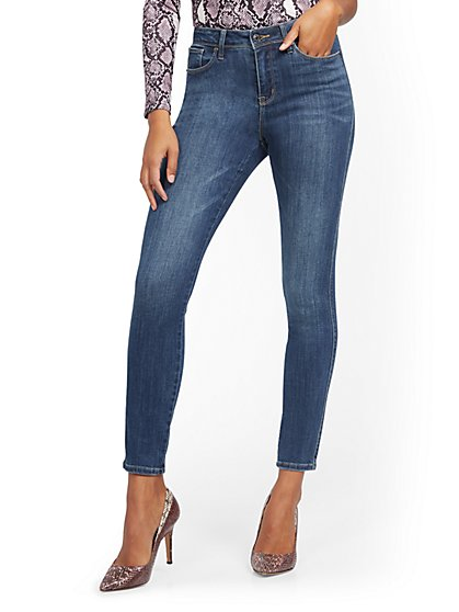 Perry High-Waisted Super-Skinny Jeans - Blue Hustle - New York & Company