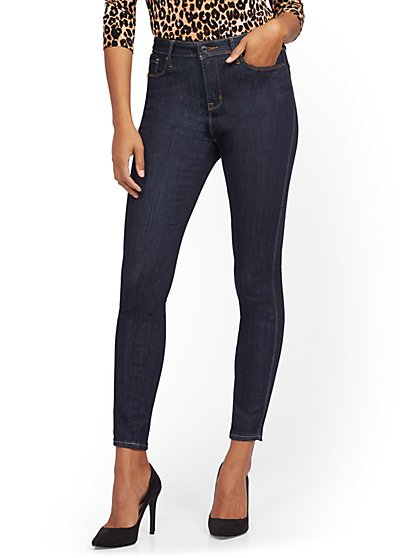 Perry High-Waisted Super-Skinny Jeans - Rinse - New York & Company