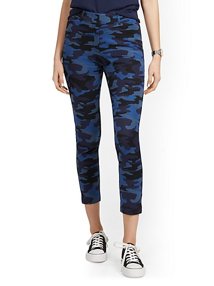 Petite Audrey High-Waisted Ankle Pant - Camo-Print - New York & Company